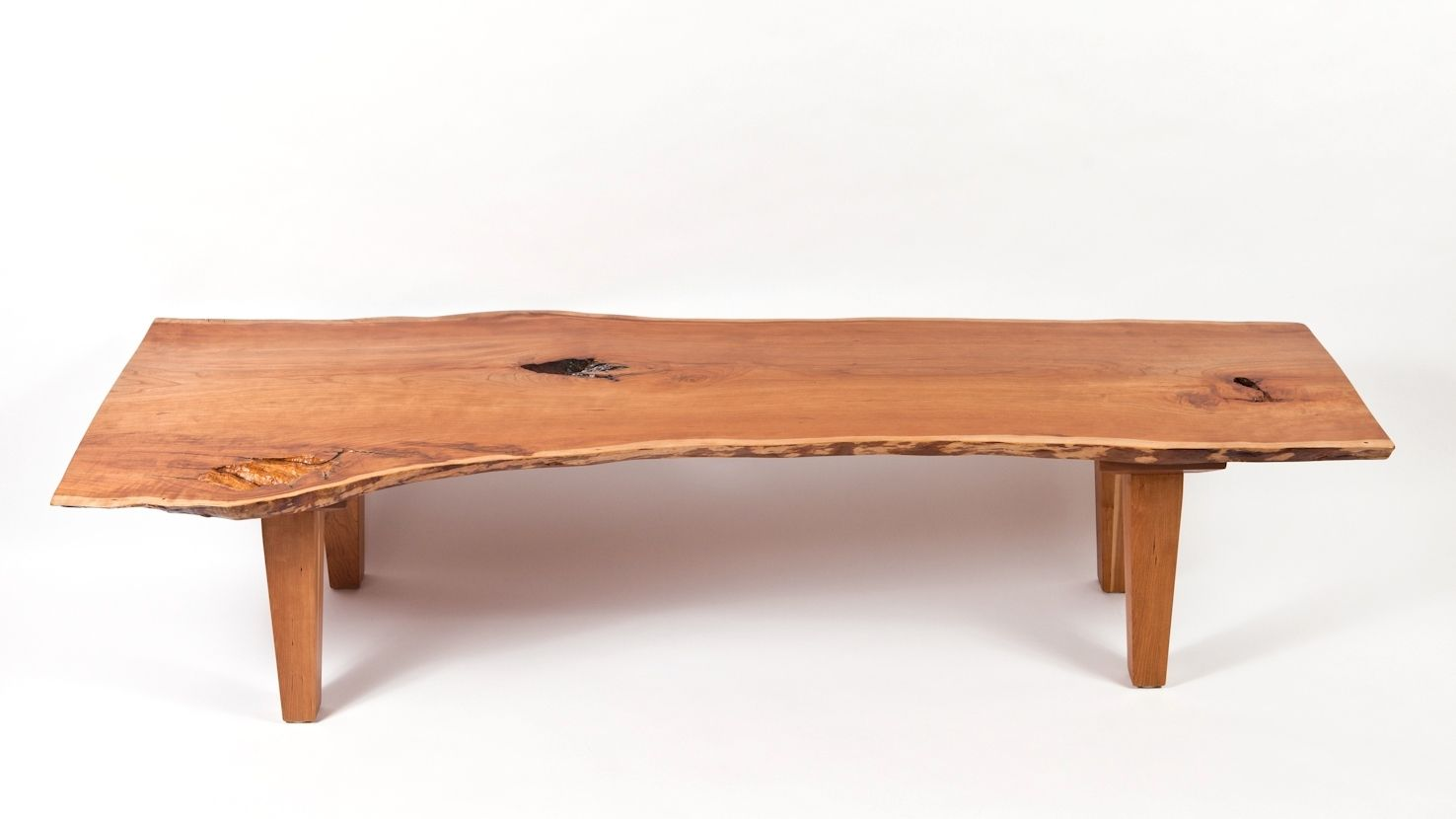 Custom Made Live Edge Vermont Cherry Coffee Table By Outerlands Gallery Inc