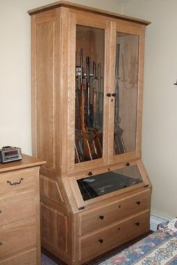 Hand Made Solid Cherry & Walnut Gun Cabinet by Robinsons ...