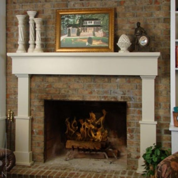 Custom fireplace mantel by alan harp design for Unique mantel decor