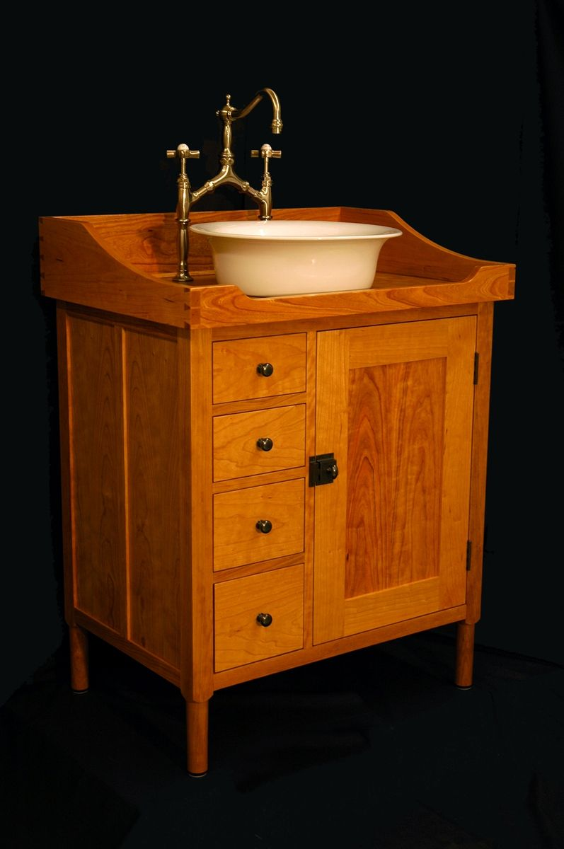 Custom Made Shaker Vanity Washstand By W Andrew Maisel