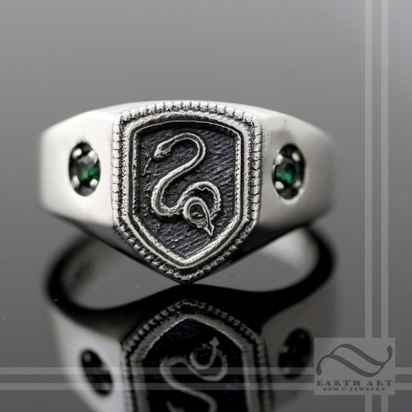 Mens bedroom furniture - Buy A Hand Made Slytherin House Ring Harry Potter Inspired Made To
