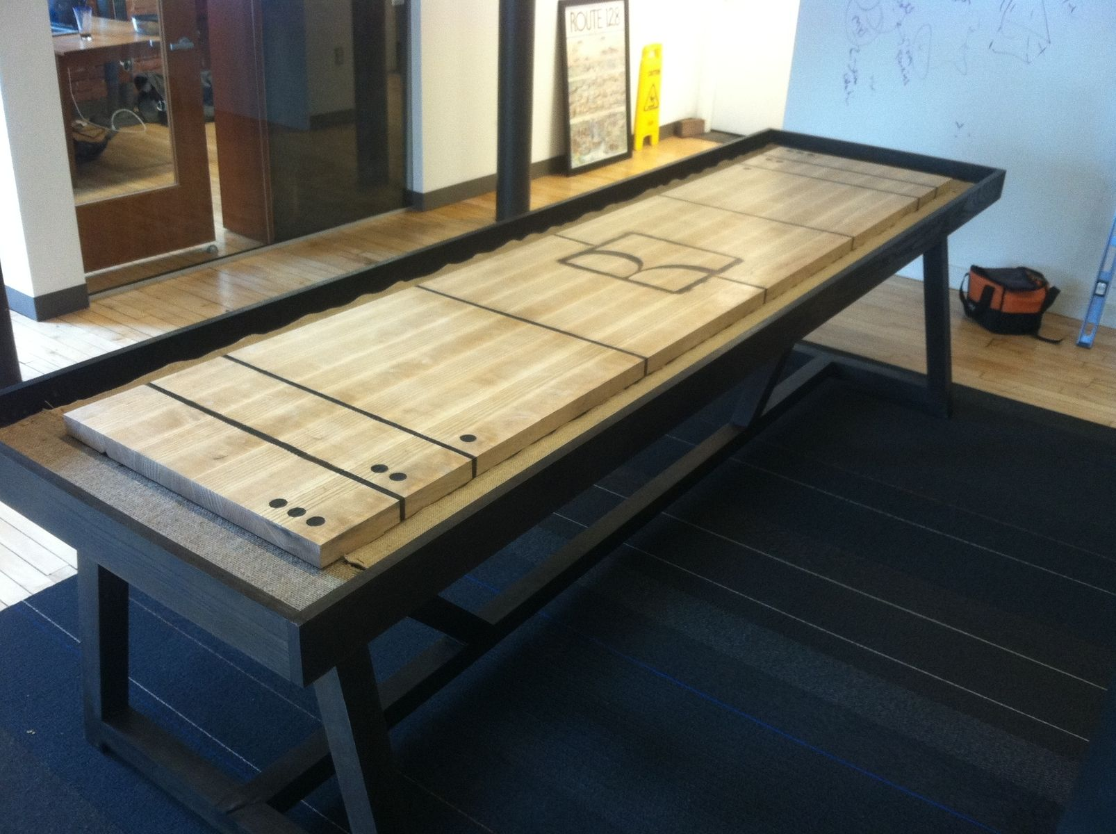 Hand Crafted Shuffleboard Table By Riftsawn Carpentry