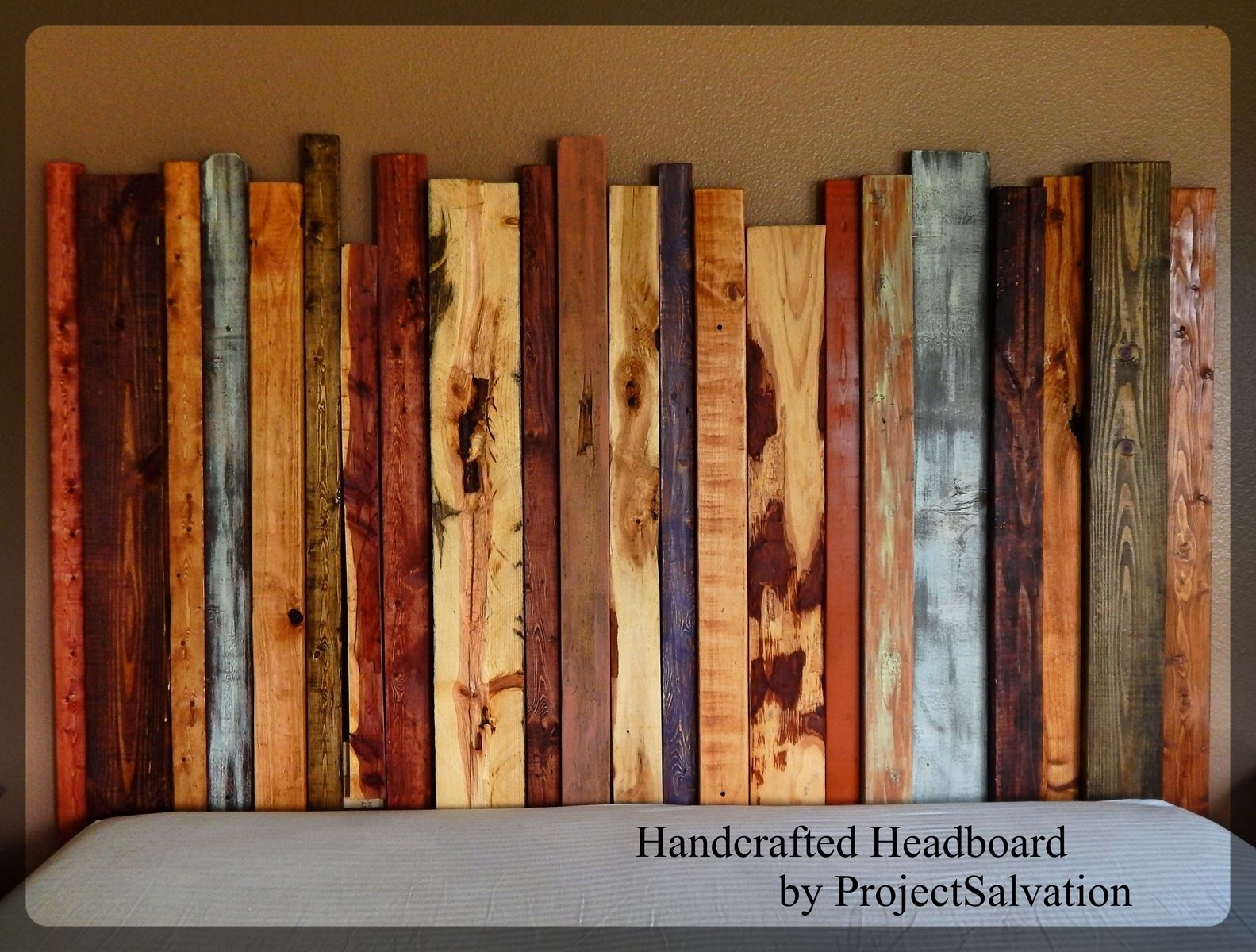 Hand Crafted Handcrafted Headboard By Project Salvation