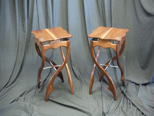 Custom Made Decorative Pirouette Side Tables