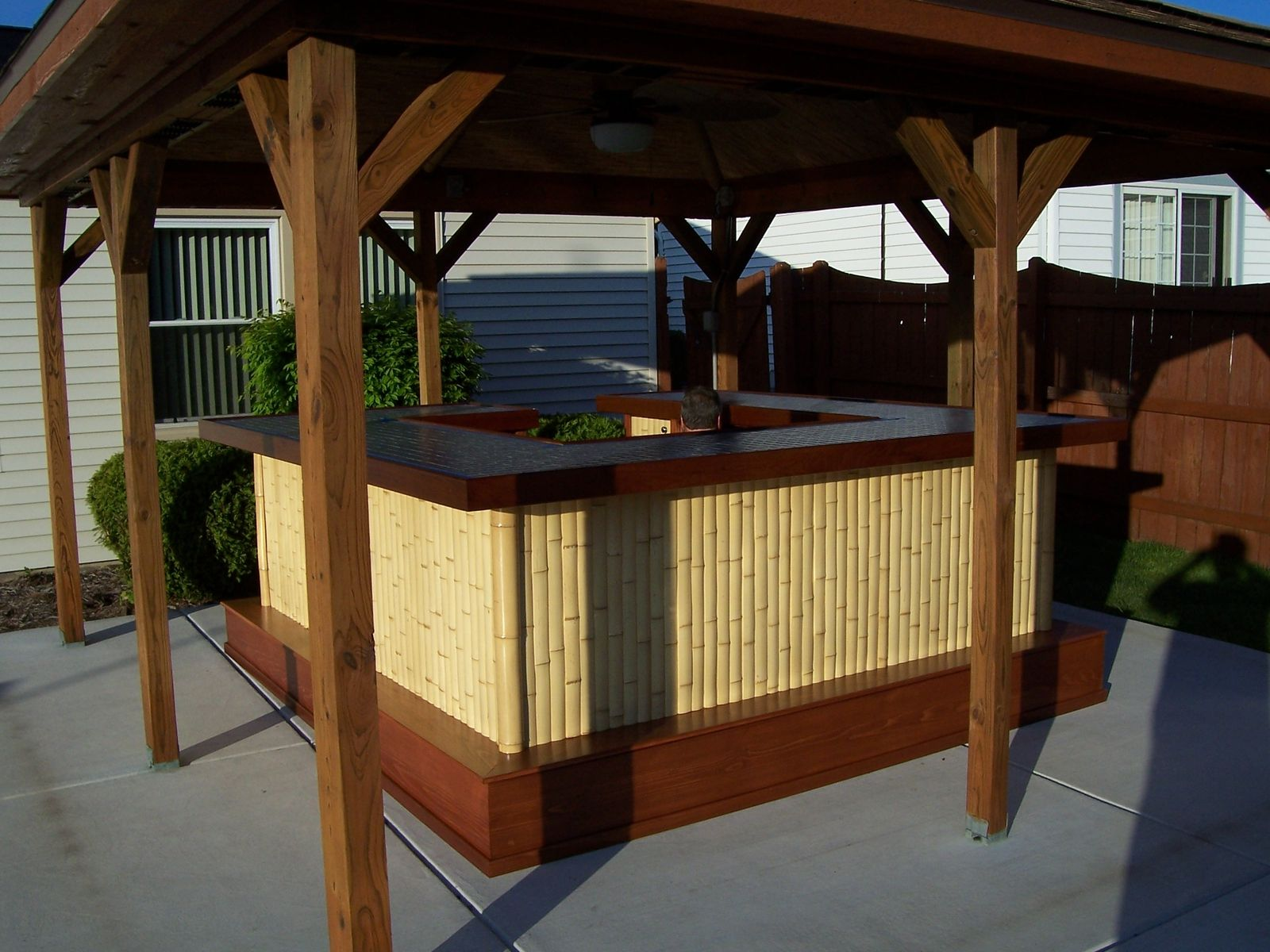 Hand made bamboo tiki bar by jeffrey william construction for Build your custom home