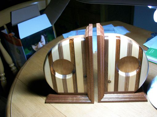 Custom Made Wooden Book Ends For Your Home Or Office