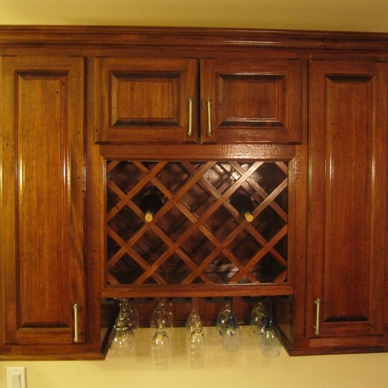 Hand Made Wine Rack Cabinet By Cross Cut Construction