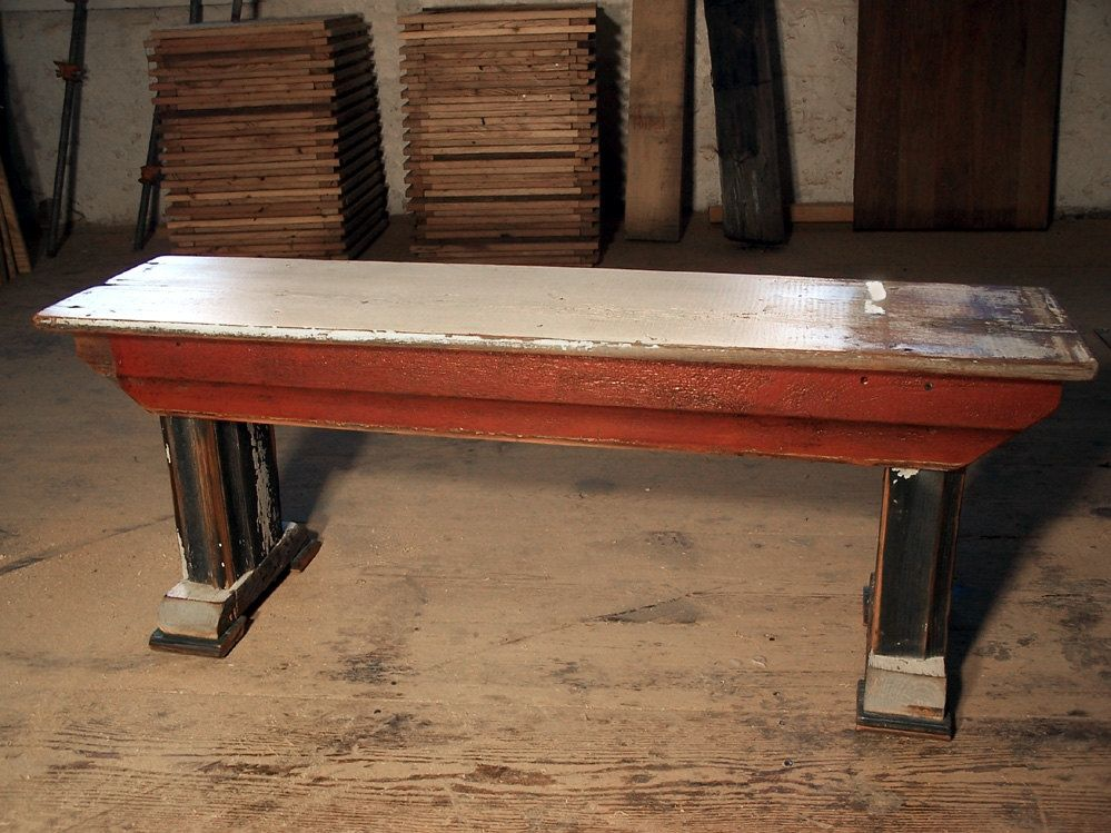 Buy A Custom Shabby Chic Chippy Paint Bench From Reclaimed Barn Wood Made To Order From The