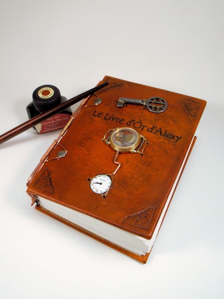 Custom Made Leather Steampunk Journal By Lady Artisan