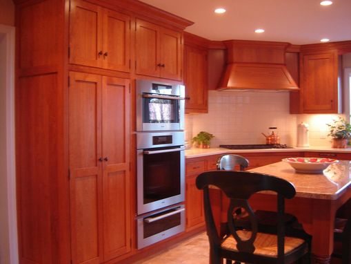 Custom Cherry Cabinets In A Simple Mission Like Style By