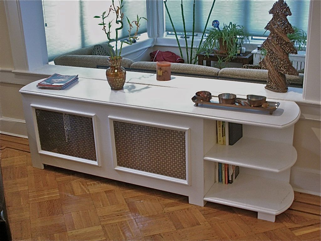 Custom Radiator Cover With Bookcase by Hammer Time Studio's | CustomMade.com