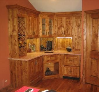 handmade knotty alder kitchen cabinets solid wood