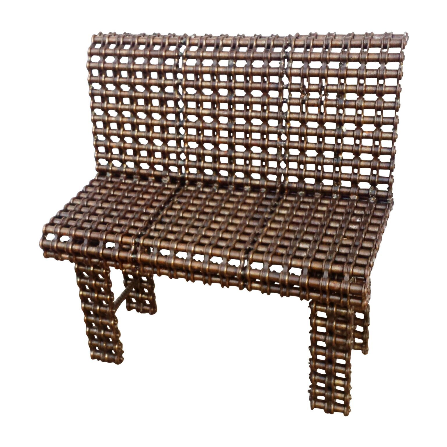 Buy A Custom Garden Furniture Metal Bench Industrial Art Made To Order From Recycled