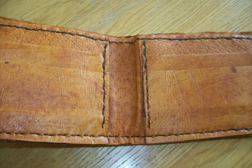Custom Made Custom Leather Basic Wallet With Flowing Dragon Design
