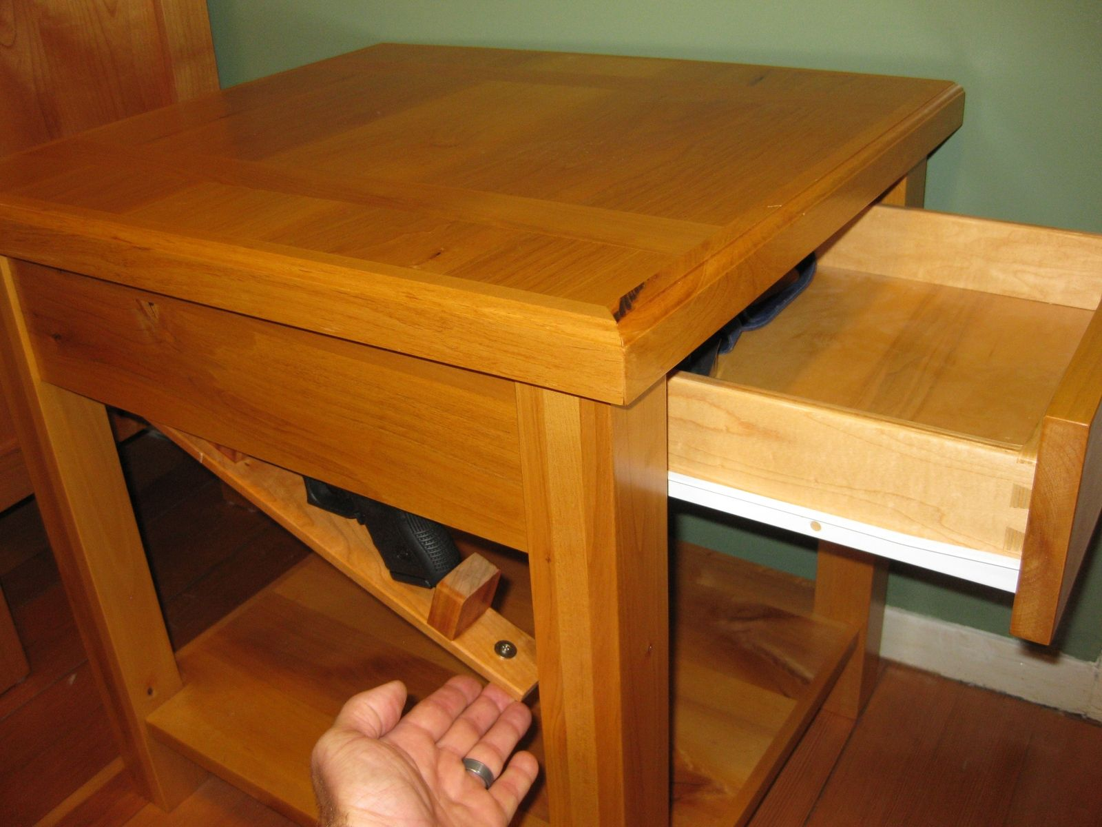Bedside Table With Secret Compartment