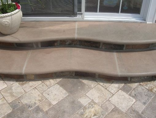Custom Made Travertine Patio with Inlays