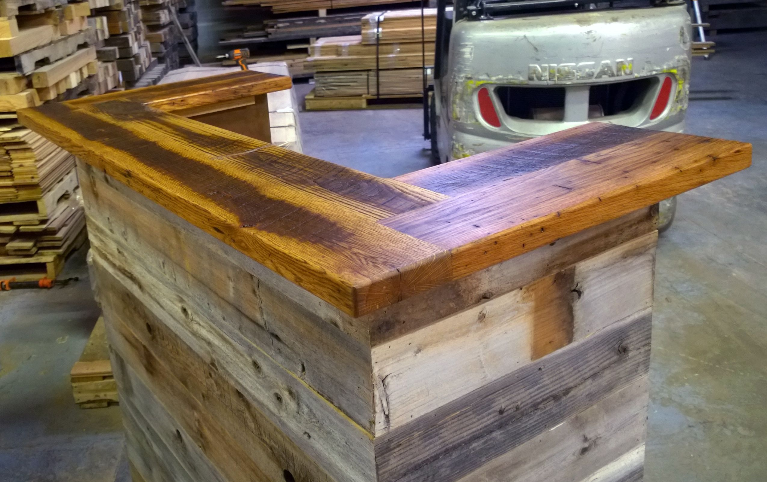 Hand Made Reception Desk Made From Antique Oak Amp Barn Wood