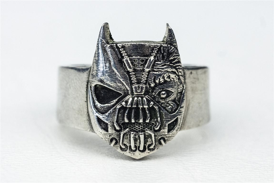 made batman and villian comic book ring by