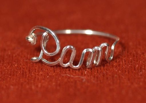 Custom Made Name Ring In Sterling Silver