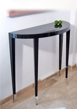 Custom Made Deco Demi-Lune Side Table