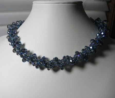 Custom Made Gloria - Striking Crystal Spiral Beaded Choker