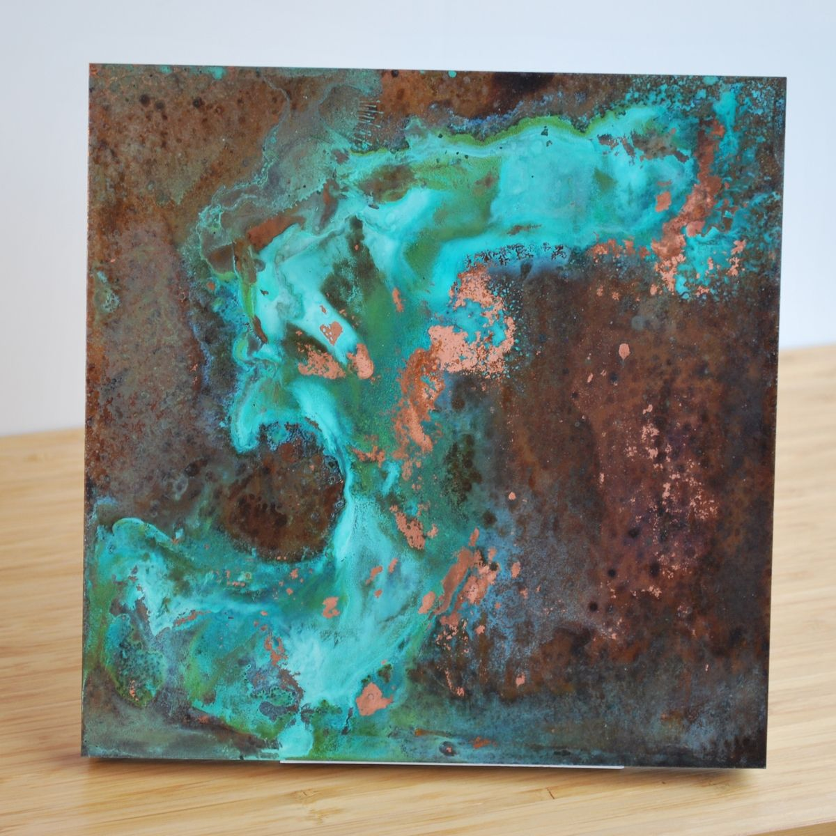 Custom copper patina wall art various by ck valenti for Wall artwork paintings