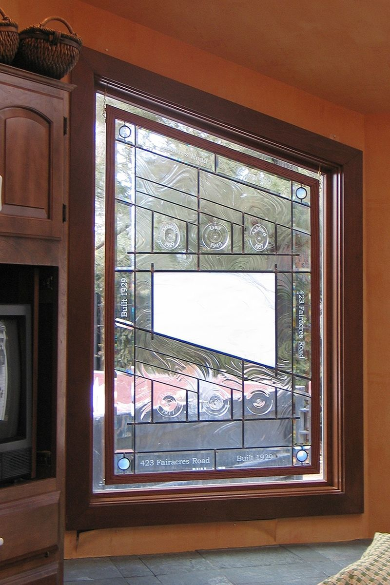 Custom stained glass kitchen window by painted light for Stained glass kitchen windows