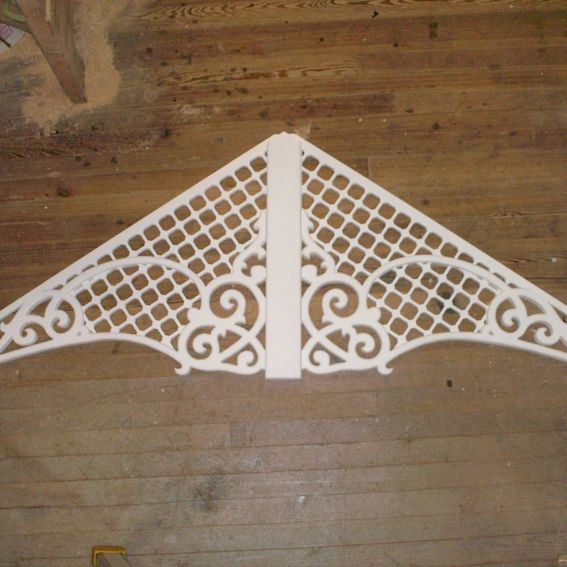 Custom Made Victorian Gingerbread Gable Decoration By