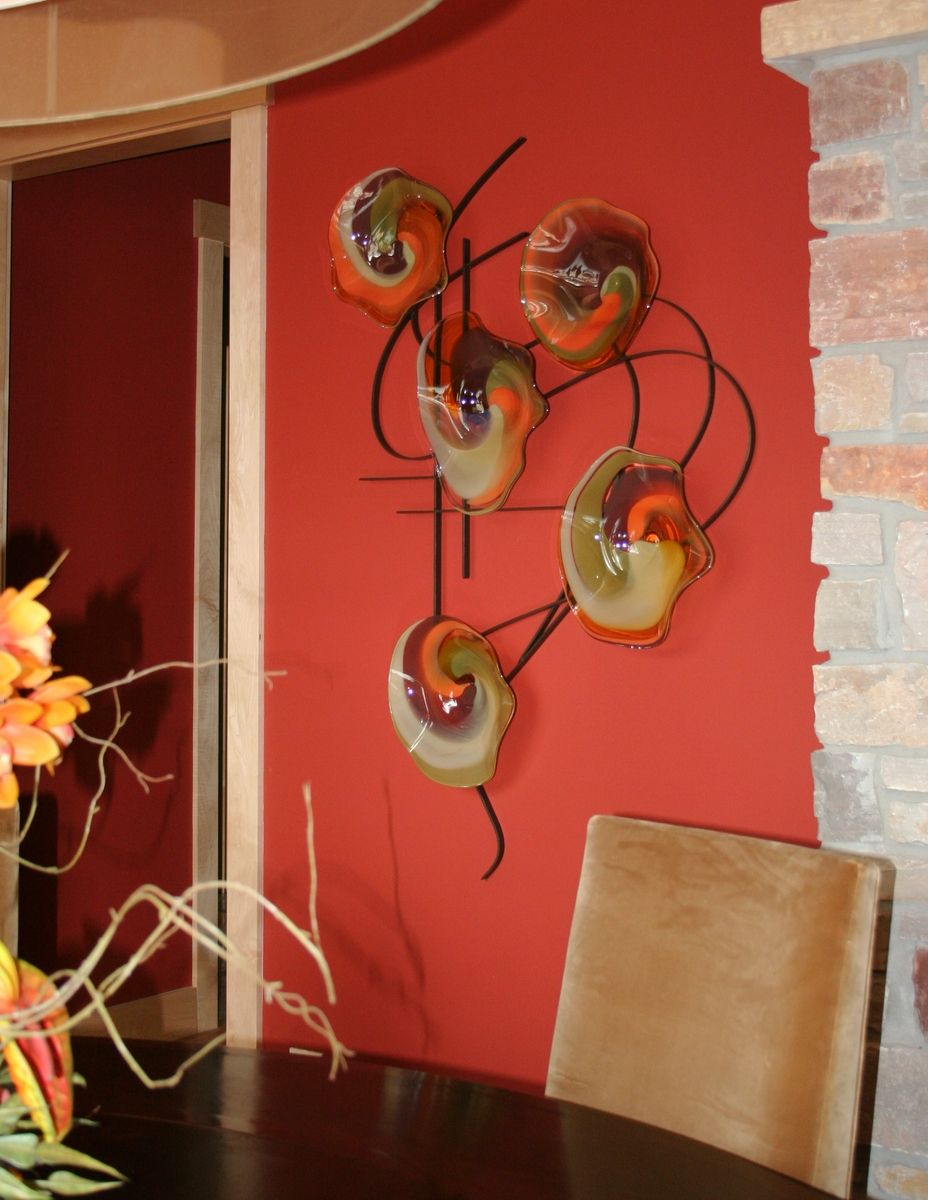 Blown Glass Wall Decor : Custom made blown glass and metal wall art by bonnie m