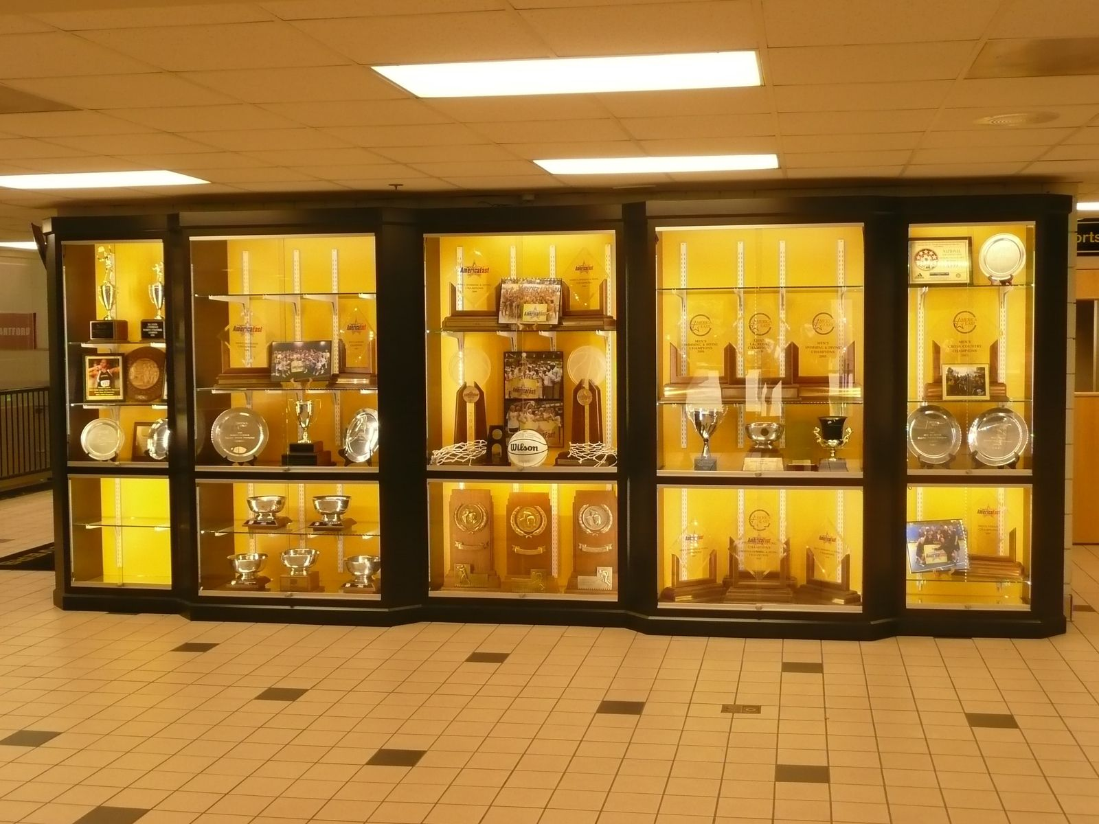 Custom Umbc Trophy Case By Sjk Woodcraft Amp Design