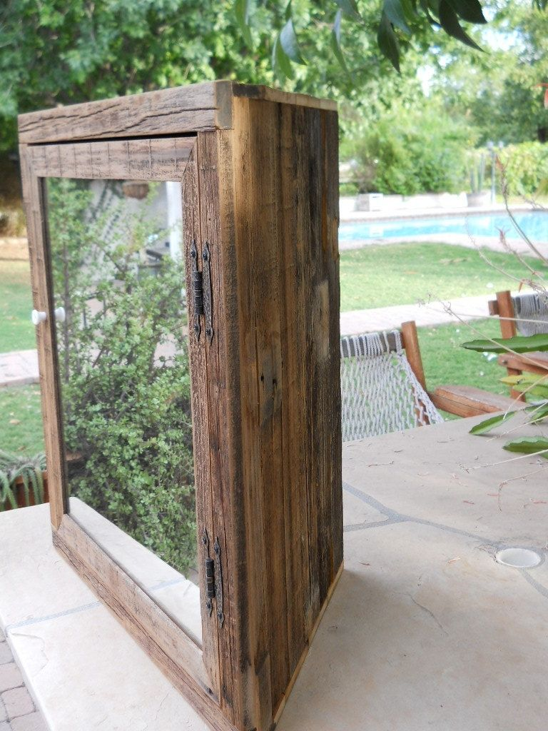 Hand Made Wooden Corner Medicine Cabinet With Mirror By Treehousewoodworks Custommade Com