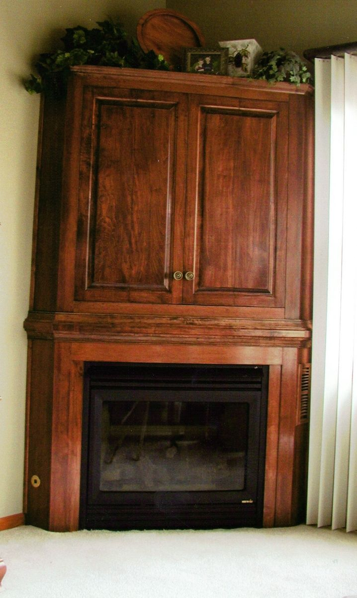 Handmade corner cabinet entertainment center by parker custom woodworks - Custom made cabinet ...