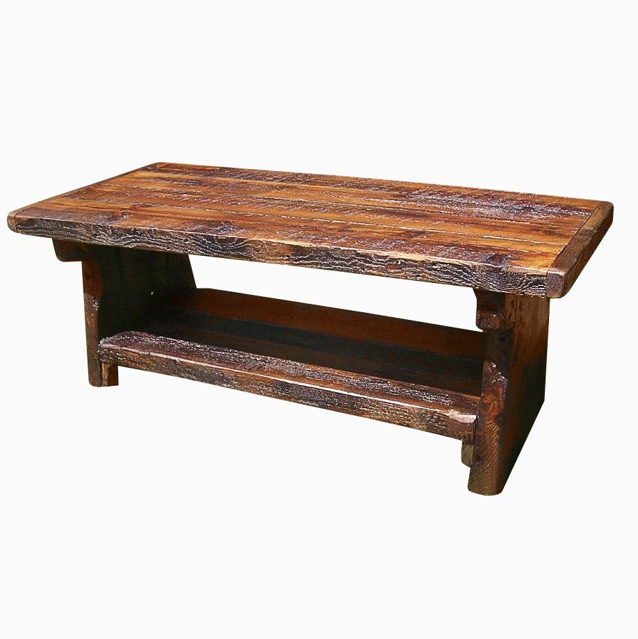 Buy A Custom Made Heart Pine Rustic Coffee Table Made To Order From The Strong Oaks Woodshop