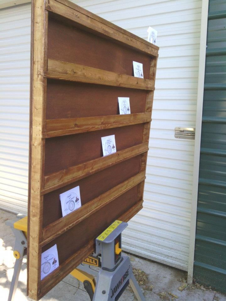 Buy A Custom Solid Wooden Cd Display Rack Made To Order