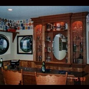 Hand Made Quot Man Cave Quot Bar Back And Bar By Norm S Custom