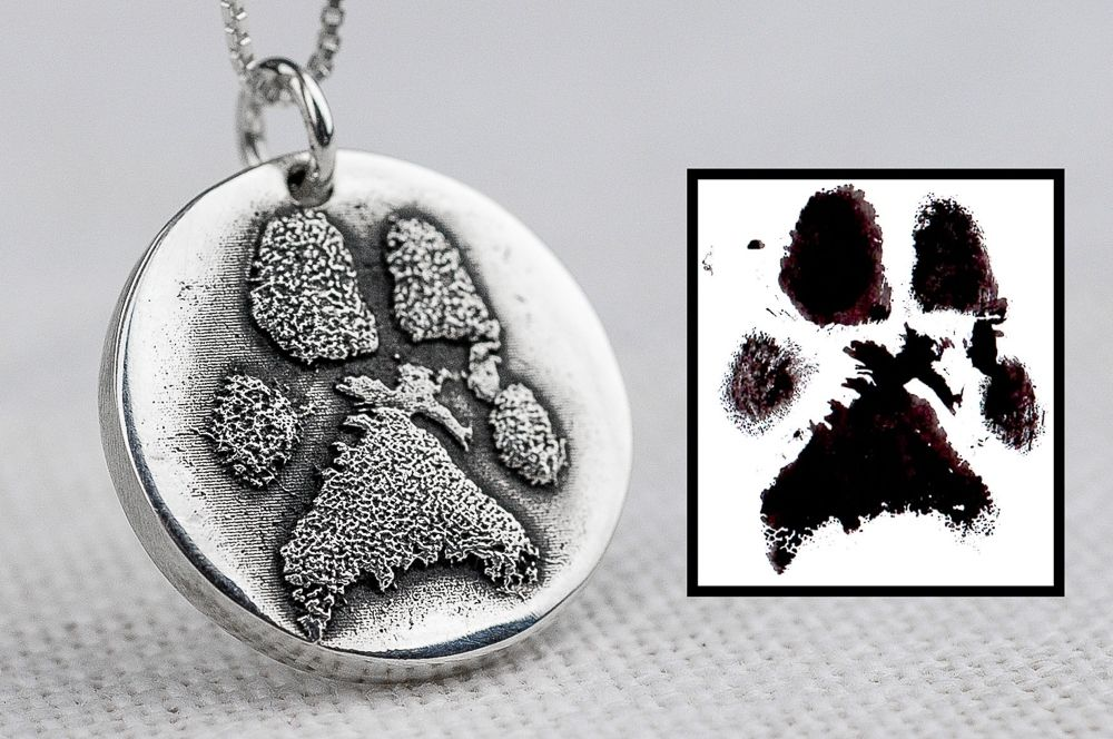 Handmade Dog Paw Necklace Made From Ink Print by Rock My ...