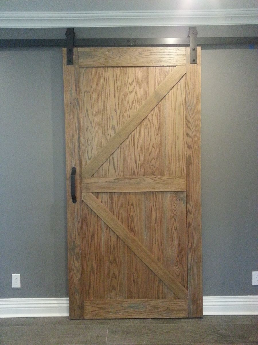 Handmade Distressed Red Oak Barn Door Slider by AJC  : 31899498688 from www.custommade.com size 900 x 1200 jpeg 152kB