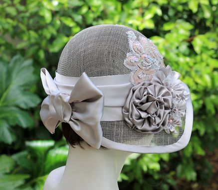 Hand Crafted 1920s Vintage Style Summer Cloche Wedding Hat