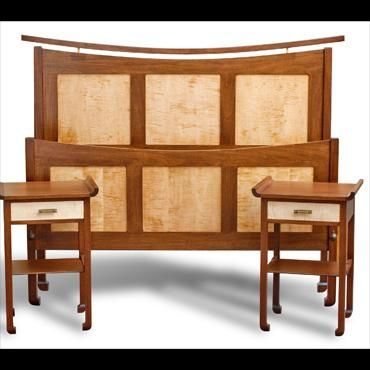 Hand Made Arts And Crafts Bedroom Set By Andys Fine Furniture