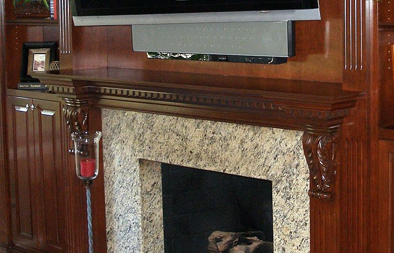 Hand Crafted Custom Entertainment Center With Tv Mounted
