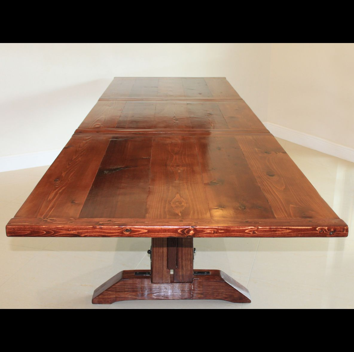 Hand Crafted Large Extendable Dining Table By Fine Dining