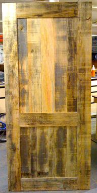 Custom Made Wood Door From Reclaimed