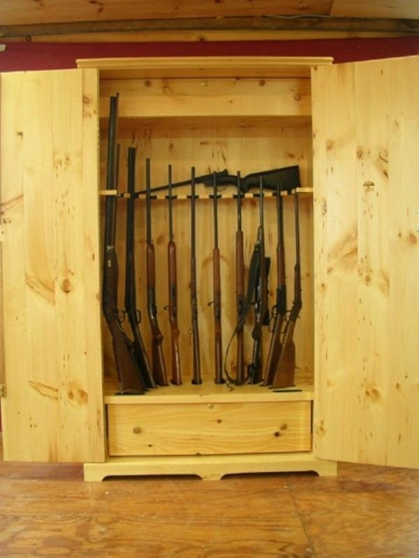 Hand Made Wooden Gun Storage Safe By Larue Woodworking