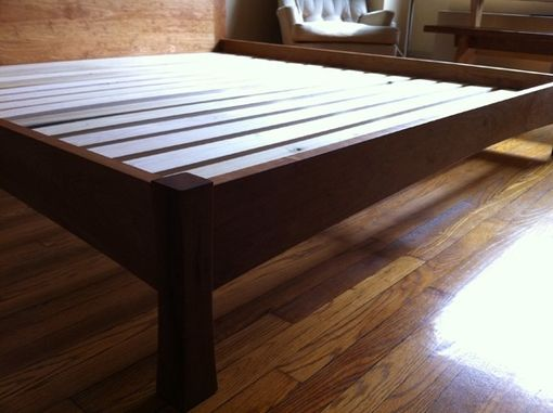 Custom Made Cherry Bed With Shelves