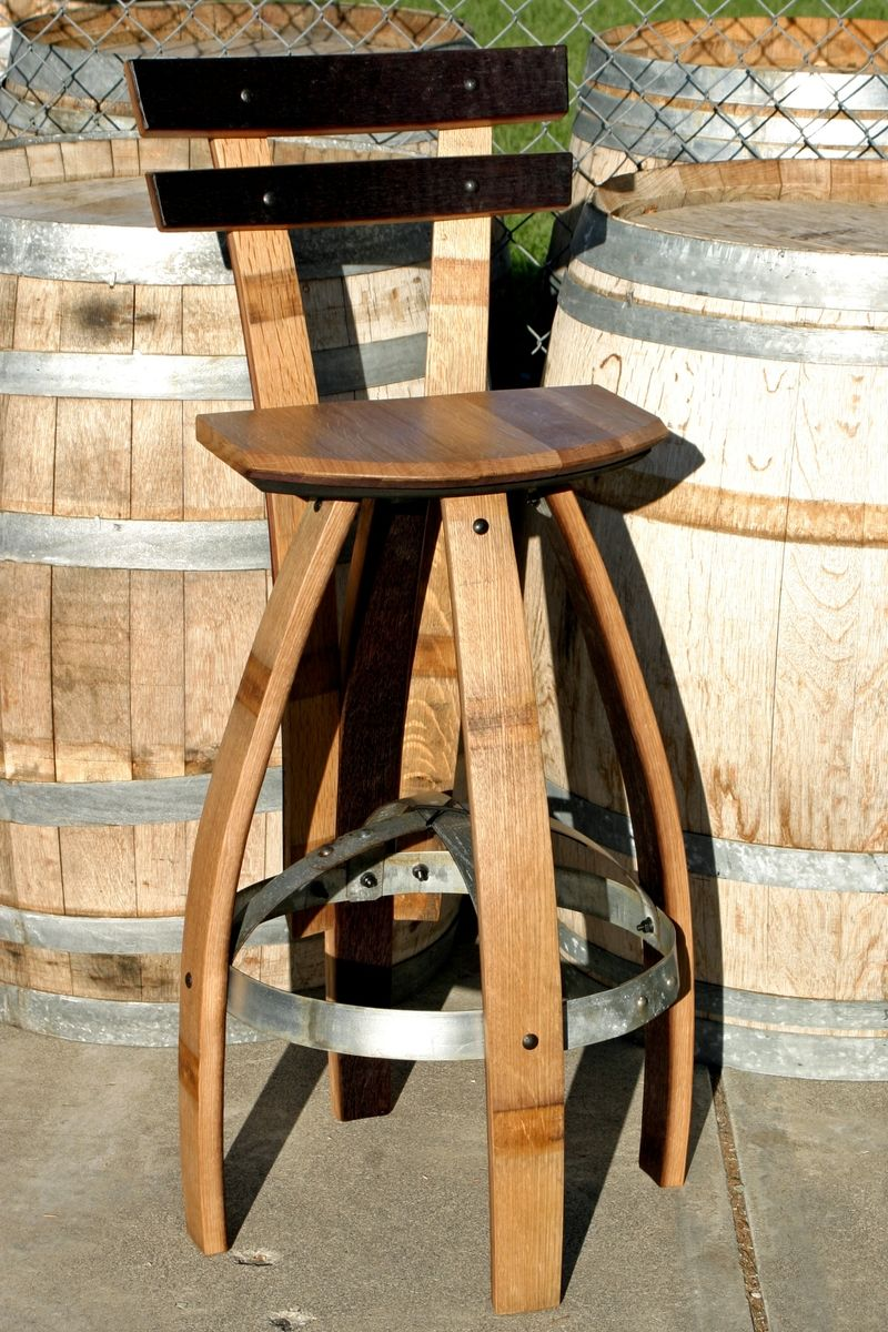 Buy A Custom Made Bar Stool With Backrest In Oak Made To