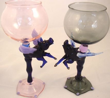 Custom Made When Pigs Fly Goblet