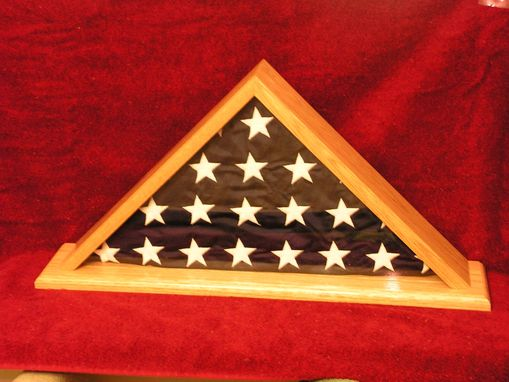 Custom Made Oak Flag Case