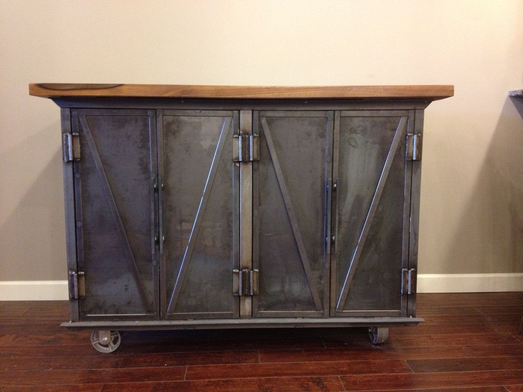 Custom Steel Coffin Media Console By Epic Industrial Furniture