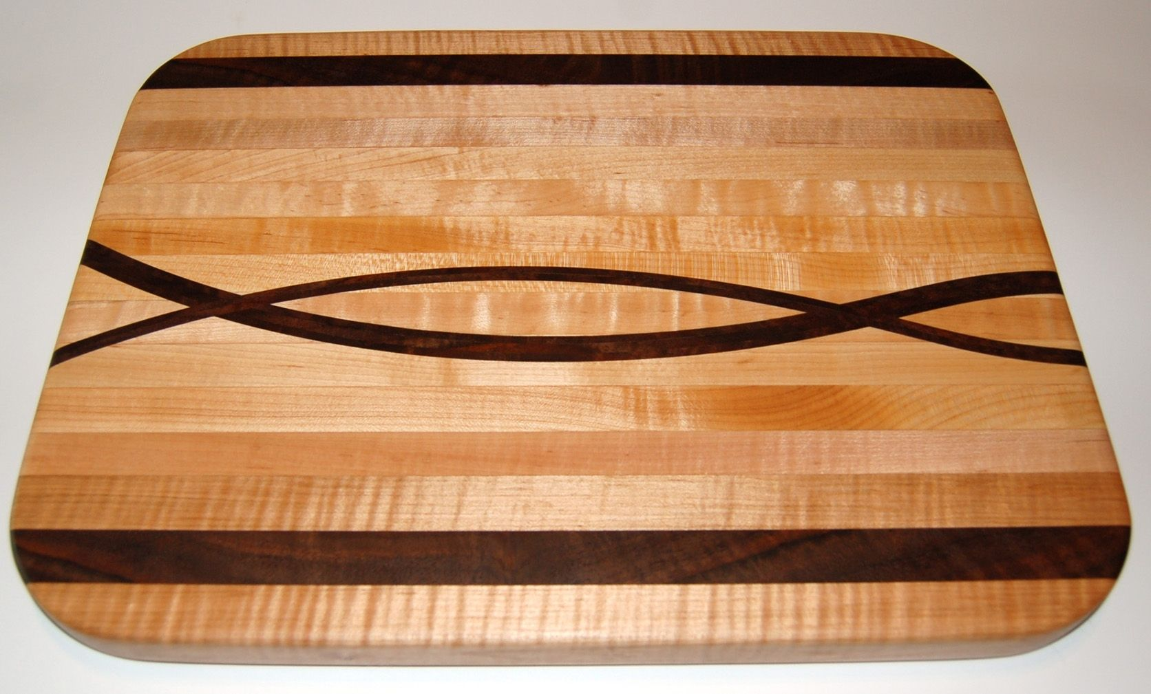 Asian Inspired Bedroom Furniture Handmade Maple And Walnut Curvy Cutting Board By Shanej