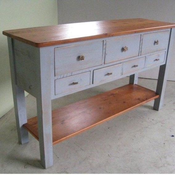 Handmade 5 foot pine sideboard console table by for 5 foot console table